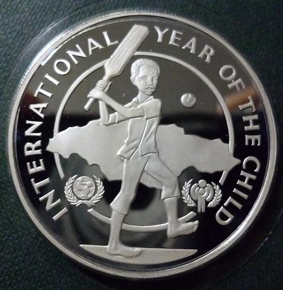 Jamaica Moneda Plata 10 Dolares Prf 1979 Año Del Niño Unicef