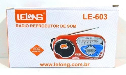 Rádio Lelong Le-603 - Frete Grátis