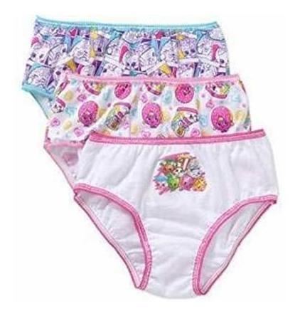 Shopkins Little Big Toddler Girls Briefs Underwear 3 Pares D