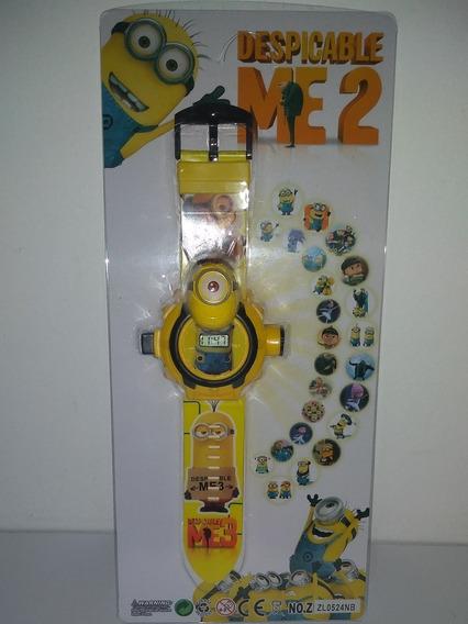 Relógio Infantil Minions Projeta 24 Imagens