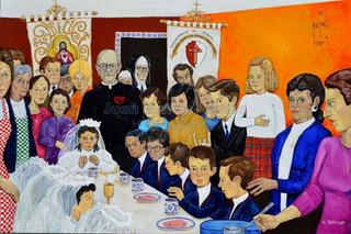El Desayuno O/l Original Firmado Kinkin Rocharte Comunion