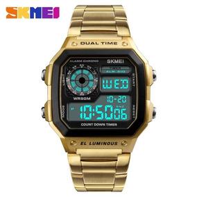 Relógio Masculino Digital Skmei 1335 Original Em Aço Retro