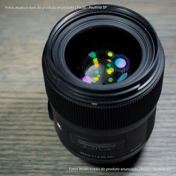 Lente Sigma 35mm F/1.4 Art. Hsm Dg Para Nikon (usada)