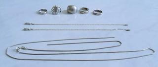 Cordão,pulseiras,anéis Prata 925 23.3gr, Barato
