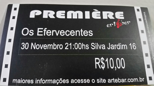 Ingresso Show Os Efervescentes - Rock Gaúcho