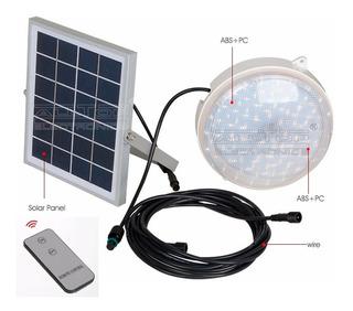 Lampara Led Solar De 12w Para Interior Con Control R