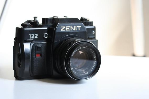 Câmera Zenit 122 Com Lente Helios 44m-7 E Filtro. Leia Tudo