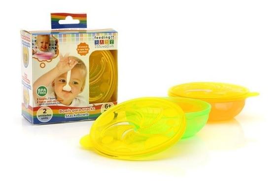 Bowl Para Snacks Con Tapa Ranurada Baby Innovation