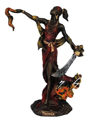 Imagem Orixá Iansã Estátua Santa Africana Umbanda Resina