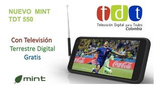 Mint Tv Tdt 550 16gb Cam Dual 13mp+1.3mp Huella Ram2gb Envio