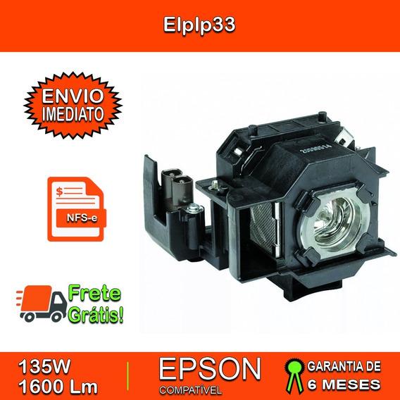 Lâmpada Completa Epson Elplp33 / V13h010l3 S3 - Frete Grátis