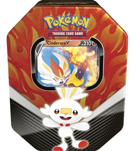 Card Game Pokémon Tcg Lata Parceiros De Galar Cinderace V