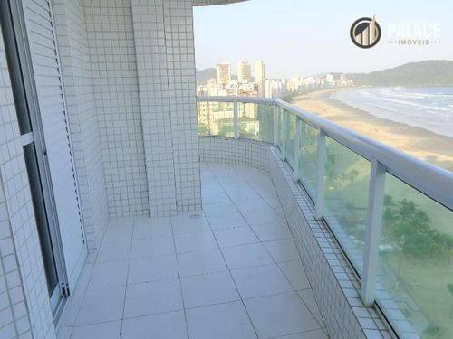 Apartamento Com 3 Dormitórios À Venda, 127 M² Por R$ 925.000,00 - Vila Guilhermina - Praia Grande/sp - Ap2748