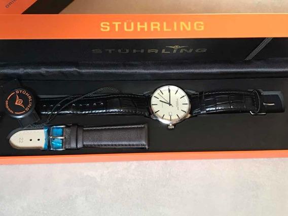 Relógio Stuhrling Ascot 555a Original 50 Metros Inox Estojo
