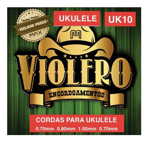 Imagem 1 de 1 de Encordoamento Ukulele Violeiro Uk10 Nylon Cristal Max Music