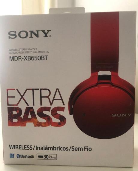 Fone De Ouvido Headphone Bluetooth Sem Fio Sony Mdr-xb650bt