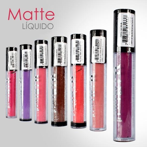 Batom Líquido Matte Fashion 12 Unidades Atacado *oferta