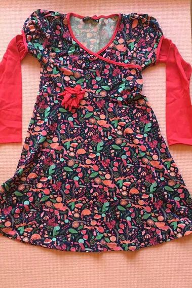 Vestido De Modal Floreado Para Nena