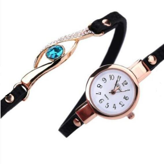 L) Relógio De Pulso Quartzo E Bracelete Feminino Promoção