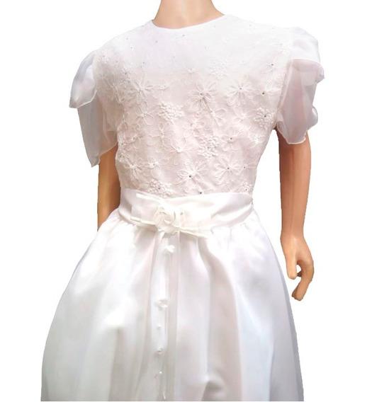 Bello Vestido De Comunion Bordado Strass 9107 Children´s