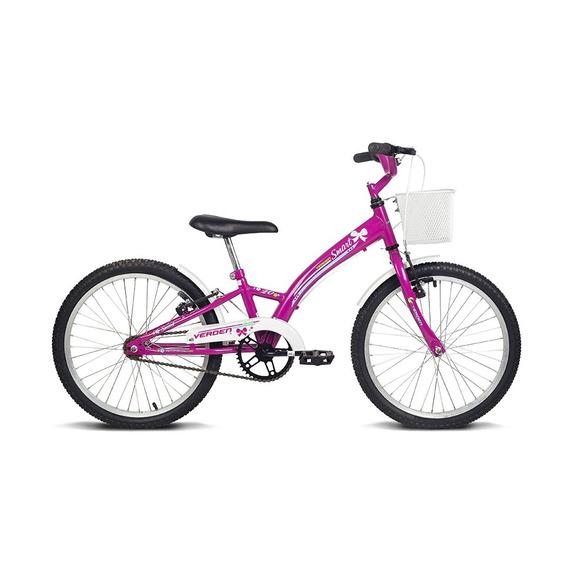 Bicicleta Infantil Aro 20 Smart Pink E Branco Verden Bikes