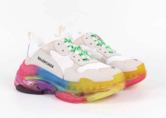 Tenis Balenciaga Rainbow Dama
