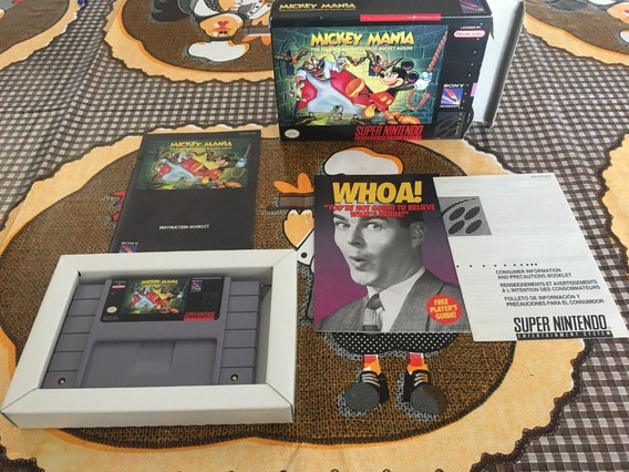 Fita Super Nintendo Mickey Mania Completa - A