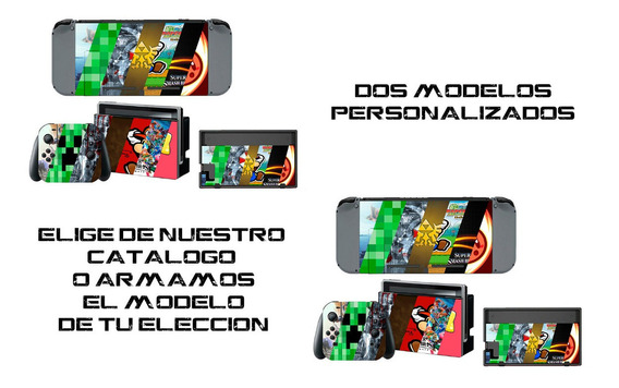 2 Piezas Skin Personalizado Para Nintendo Switch