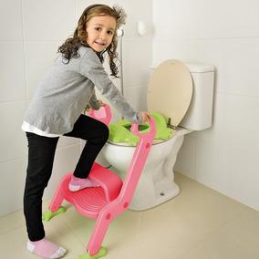 Assento Vaso Troninho Infantil Escada Rosa - Multikids Baby
