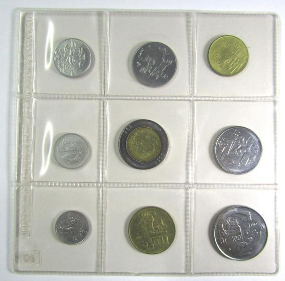 San Marino Set De 9 Monedas 1 A 500 Liras Año 1982 Unc