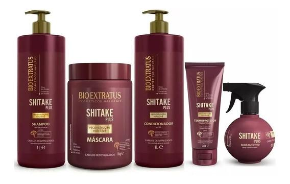 Kit Shitake Plus Reconstrução Completo 5 Produtos Bio Extratus