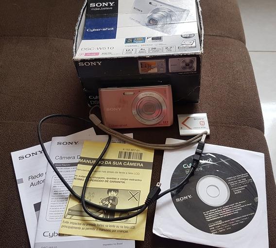 Câmera Sony Cyber-shot Dsc-w510 Rosa 12.1 Mega Pixels