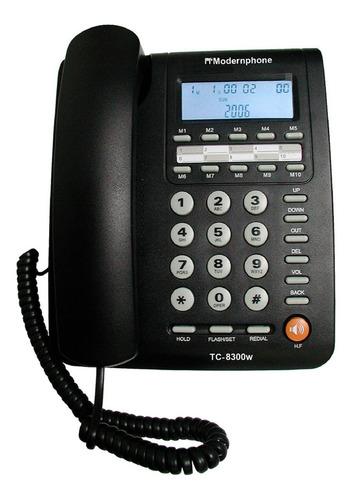 Imagen 1 de 3 de Teléfono Fijo Tc-8300w Modernphone Altavoz Identif. Llamadas