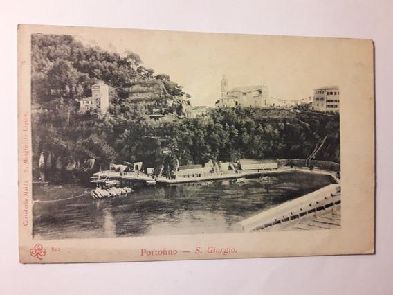 Antigua Carta Postal Portofino S Giorgio