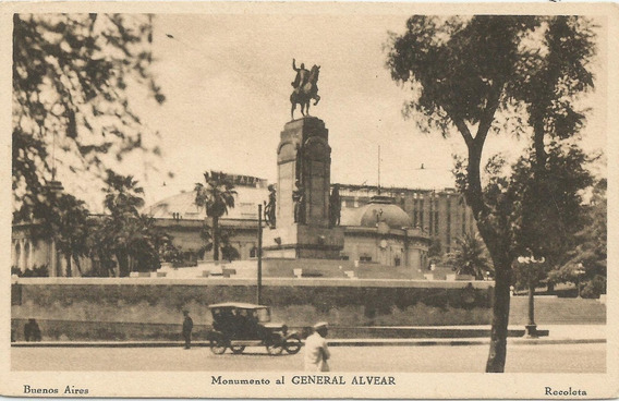 Antigua Postal Monumento General Alvear, Buenos Aires