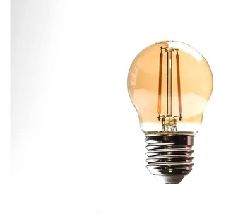 Lámpara Led Osram Vintage Tipo Gota Ambar 2.5w Por E631