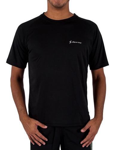 Imagen 1 de 4 de Remera Diportto Entrenamiento Dry Fit Negro