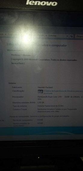 Computador Com Monitor Lenovo Windows7 Cpu Dual Core 3gb
