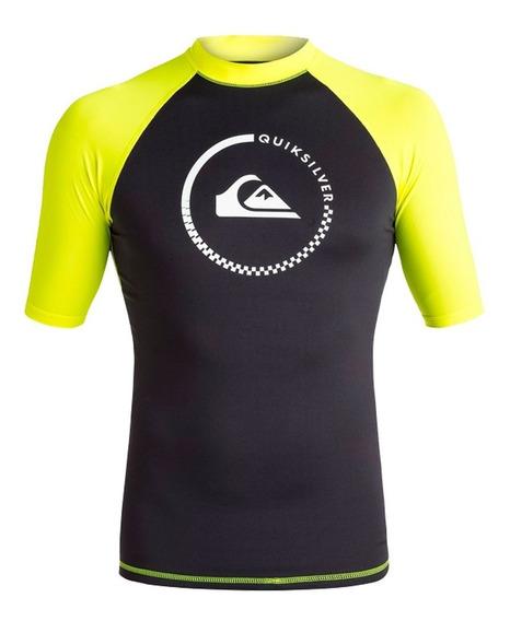 Playera Deportiva Para Surf Ajustable Negro Verdequiksilver