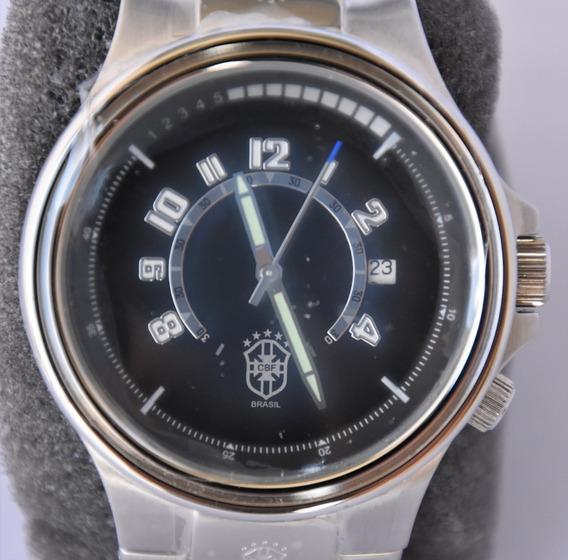 Relógio Cbf Coleção Pulso Personalizado Brasil Novo Futebol