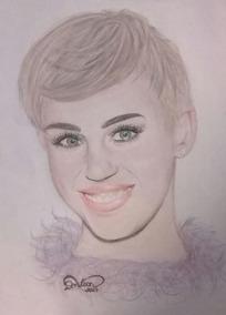 Desenho Realista Miley Cyrus