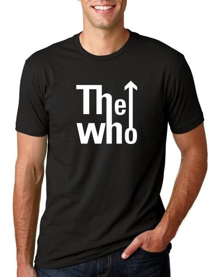 Camiseta Masculina The Who Logo Estilosa
