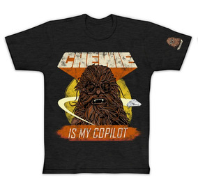 Camisa Aduto G1 G3 Oficial Star Wars Chewie Chewbacca Pitica