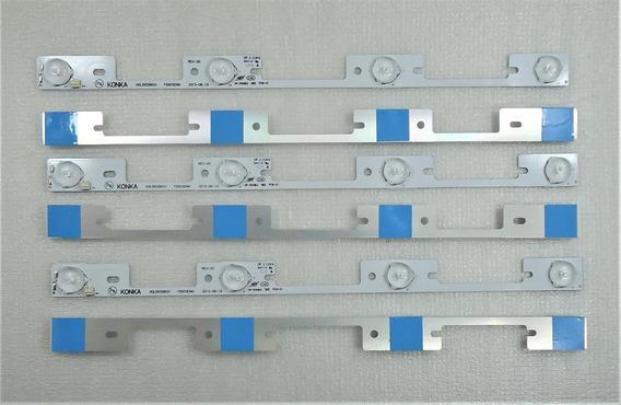 Kit 6 Barras De Led De Aluminio Tv Semp 40l2400 Kdl39ss662u