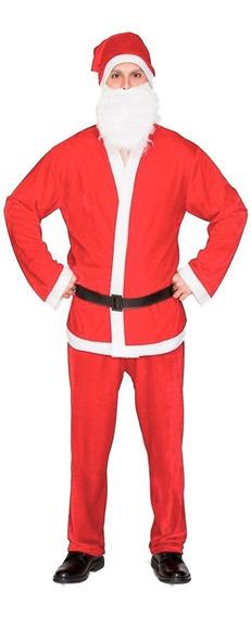 Traje Disfraz Papa Noel Santa Claus Completo
