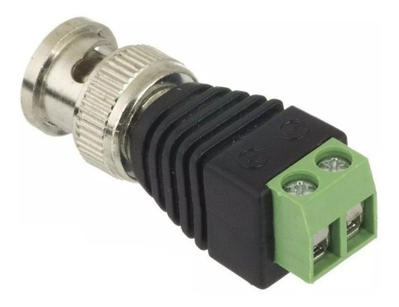Kit 50 Plug Conector P4 Bnc Borne Kre P/ Cftv Camera Borne
