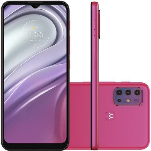 Imagem 1 de 8 de Motorola Moto G20 Pink 64gb Tela 6.5 4gb Camera 48mp 8mp 2mp