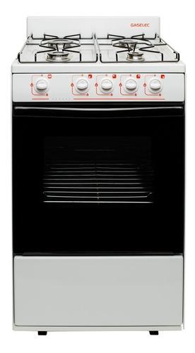 Imagen 1 de 3 de Cocina Gaselec Blanca - 55cms Con Termocúpla