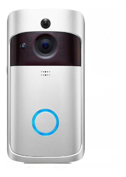 Vídeo Porteiro Inteligente Wifi Interfone Visão Noturna V5