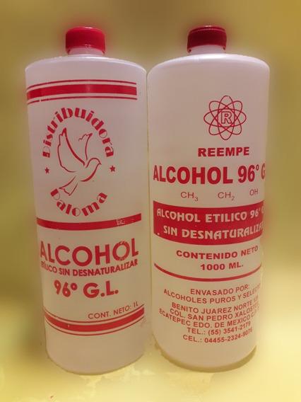 Alcohol Etilico 96 Grados 1litro